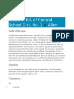 22-4 Board of Education v. Allen Case Digest
