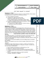 Devoir de Synthèse N°1 - Sciences physiques - 3ème Math (2014-2015)