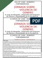 Cartel Jornada Sobre Violencia de Genero