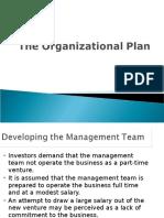 The Organisational Plan