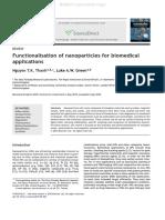 Nano Particles Functionalisation