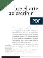 Sobre El Arte de Escribir