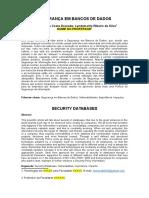 Artigo - Segurança Em Bancos de Dados