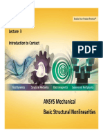 ANSYS Mechanical Basic Structural Nonlinearities L3