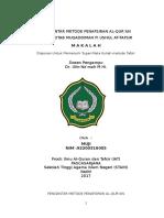 PENGANTAR METODE PENAFSIRAN AL-QUR'AN.docx