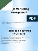 Agri Marketing Mgmt