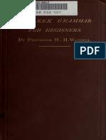 W. H. Waddell , A Greek Grammar for Beginners