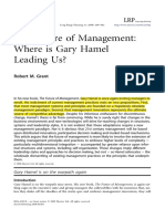 The Future of Management by Hamel