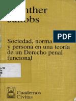 Jakobs Sociedad Norma y Persona