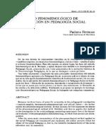 El Modelo Fenomenologico de Investigacion en Pedagogía Social