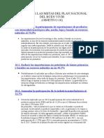 Análisis de Metas Del Plan Nacional Del Buen Vivir