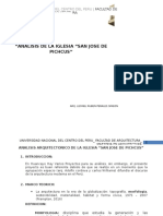 analisis arquitectonico de la iglesia pichkus huancayo, peru