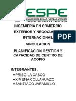 Planificación Gestión y Capacidad de Centro de Acopio