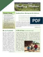Planting Malawi June 2010 newsletter