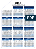 Calendario Anual 2016