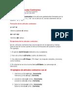 Ejemplo de Artículos Contractos