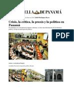 Abdiel Rodríguez Reyes - Critica, Crisis y Praxis Política