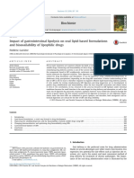Carriere, Biochemie, 2016, Impact of GI Lipokysis on Oral Lipid-based Formulations and Bioavailability