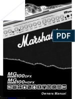 marshall mg100hdfx owners manual pdf loudspeaker mains electricity rh scribd com marshall mg100fx user manual marshall mg100fx service manual