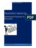 assessment purposes training material