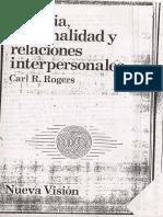 Terapia, Personalidad y Relaciones interpersonales.