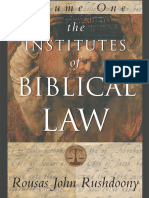 Institutes of Biblical Law R. J. Rushdoony