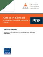 EEF Project Report Chess in Schools