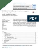 Meng, EJPS, 2015, Qualitative and Quantitative Methods to Determine Miscibility in ASD
