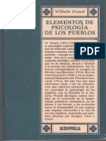 Elementos de Psicologia de Los Pueblos