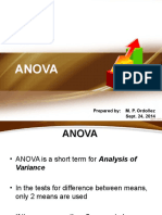 Analysis of Variance - 2014