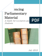 Referencing Parliamentary Material