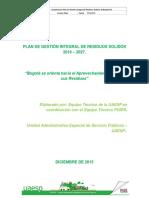 Plan de Gestión Integral de Residuos Sólidos 2016 - 2027 Bogotá Se Orienta Al Aprovechamiento Total de Sus Residuos 18-12-2015