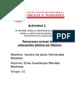 335719336 Panorama Actual de La Educacion Basica en Mexico