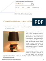 5 Productive Qualities for Effective Studying - ProductiveMuslim