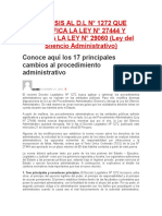 Analisis Al Dl 1272 Modifica Ley 27444