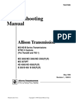 2013-09!22!223029 Allison Transmission Md3060 Trouble-shooting