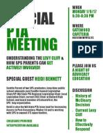 Gatewood PTA meeting flyer