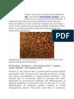IGC Test ASTM A261 Practice E Docx