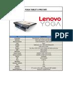 Unsa Lenovo Yoga Pro Za0f0051ve