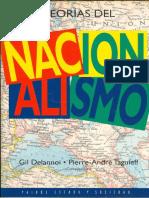 Delannoi, Gil y Taguieff, Pierre a - Teorías Del Nacionalismo