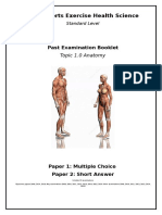 past exam booklet topic 1 anatomy