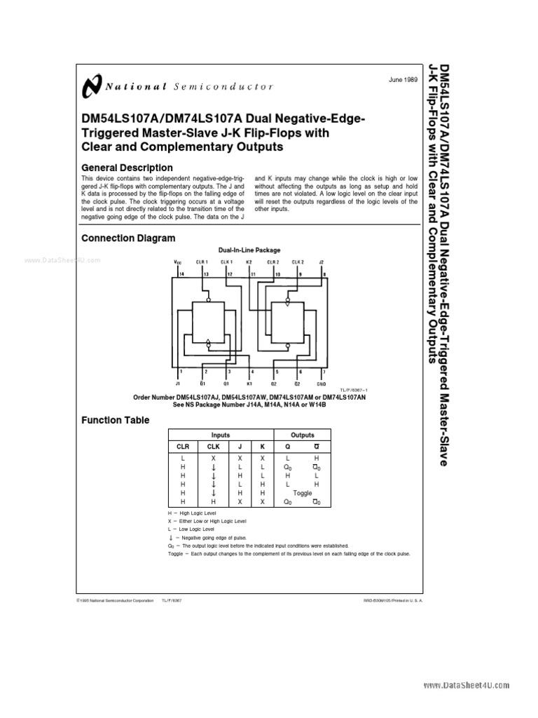 74ls107 Etc Electronic Design Electrical Circuits Master Logic Diagram