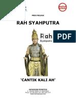 Press Release Rah Syahputra - Cantik Kali Ah