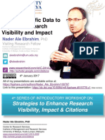 Share Scientific Data to Improve Research Visibility and Impact