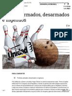 Profetas armados, desarmados e ingenuos, por CARLOS RAÚL HERNÁNDEZ