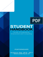 Faculty of Engineering Environment and Computing Student Handbook - Postgraduate