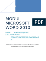 Modul Microsoft Word 2010