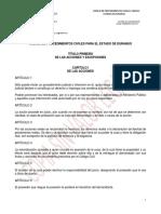 Codigo de Procedimientos Civiles Para El Estado de Durango