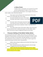Safety Valve Setting Boiler