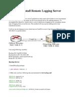 CentOS Install Remote Logging Server